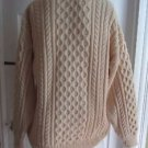 Vintage Peregrine JG Glover Fisherman Cable Knit 100% Wool Sweater Mens xlarge