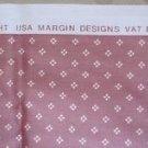 USA Margin Designs Fabric 2.75 yards VAT Dyes Dupont Teflon Screenprinted White