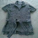 Bill Blass zip up front short sleeve wrap cotton sweater womens Medium vintage?