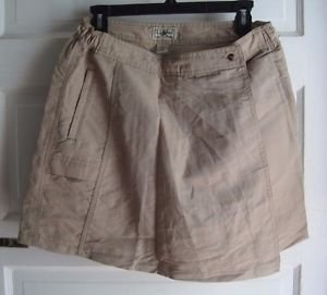 NWT LL Bean Sunsmart Sunscreen 50+ Nylon Skort Shorts Skirt Womens S Khaki Tan