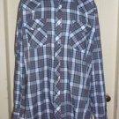 Vintage Roebucks Western Rockabilly Pearl Snaps Up Casual Shirt Cotton Mens XLT