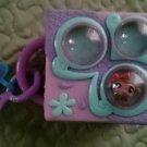 Littlest Pet Shop mini Teeniest Tiniest carrying case travel monkey purple