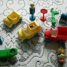 Vintage Sesame Street Little People Phone Mail Trash Truck Toys Jim Henson Illco