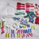 Vintage 1980's Lot of Barbie Clothes Shoes Accessories brushes Genuine Fashion