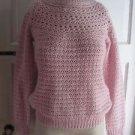 Womens LRL Ralph Lauren Alpaca Wool Raglan Chunky Cable Knit Crochet Sweater S
