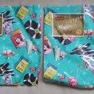 2 Vintage 1950s Sock Hop Diner Wrapping Paper Squares Ben Mont Crafts Vinyl Malt