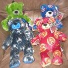 LOT 4 NWT Build A Bear Avengers Hulk Iron Man Plush Stuffed Animals Logo Bears