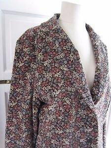 Womens LL Bean Cotton Corduroy Floral Blazer Style Jacket Coat 16 0BDG5 Lined