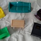 6 pc Plastico fits Renwal Marx Ideal Dollhouse Furniture Couch Chairs TV Table