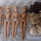 Spin Masters Liv Doll Lot of 4 Dolls Wigs 2009 Blonde Brunette African American