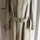 Vintage Mid Century Burton Sanyo Belted Trench Spy Coat Mens 38R All Weather Tan