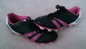 Youth Umbro Corsica Engage Baseball/Softball Soccer Cleats girls 4.5 pink black