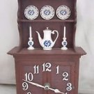 VINTAGE 1960's SPARTUS CHINA HUTCH CABINET KITCHEN CLOCK RETRO COUNTRY ELECTRIC
