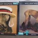 NEW Lot 2 William Wegman Weimaraner Dogs Puzzles Stanley Roller Rover 500 pieces