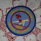 1990 Casco Bay District Patrol Olympics Boy Scout Patch Badge Cub Maine BSA