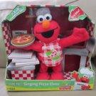 NEW Sesame Street Singing Pizza Elmo Toy Doll Fisher Price 2007 Talking Plush