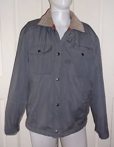 Vintage Rugged Wear BOG Flannel Lined Insulated Canvas Barn Work Jacket Mens M