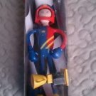 NEW BENDOS bender Zippy Race Car Driver Champion poseable bendable Action Figure