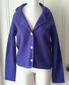 John Meyer Classics Boiled Felted Wool Jacket Coat Blazer metal buttons Womens s