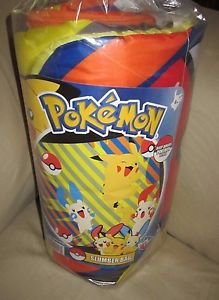 NOS Pokemon Indoor Slumber Sleeping Bag Pokeball Jakks Pacific Taffeta Comforter