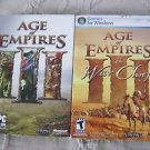 Lot of 2 Age of Empires III The War Chiefs Expansion Pack PC Computer Video Game