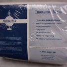 Vtg NOS T180 Percale Thomaston Mills XL Twin Sheet Set Fitted Flat Pillowcase