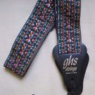 EUC GHS Strings Made in USA Rainbow Adjustable Guitar Strap 60s 70s Look Woven
