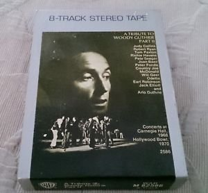 A Tribute to Arlo Guthrie Part II Carnegie Hall Hollywood 8 Track Tape cassette