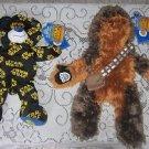 LOT 2 NWT Build A Bear Star Wars Chewbacca Chewie Plush Stuffed Animal Logo Bear