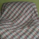 Piedmont Quilting Corp. Plaid Bedspread Blanket Quilted Topper Poly/Cotton Queen