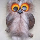 Cork Owl Korkel NatureCraft Mid Century Mod Decor Wall Hanging 70's 14 Inches