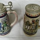 Lot of 2 Numbered Avon Sports Large Steins Baseball/Football Ceramarte Brazil