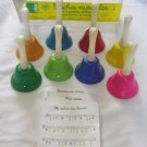 Vilac Cloches Musicales Set of 8 Musical Metal Hand Bells + Music Sheets