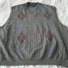 Vintage Brooks Brothers Argyle Italian Merino wool Knit Sweater Vest Mens size L