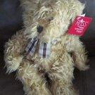 "12"" RUSS BERRIE Brown SHAGGY Teddy Bear BENJAMIN Plush Stuffed Animal With Tags"