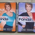 JANE FONDA PRIME TIME 2 FITNESS DVDS WALK OUT FIT & FIRM EXERCISE VIDEOS