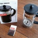 NIB Bodum French Coffee Press Maker 34 Ounces/1.0 Liter No: 1578-01US Glass hand