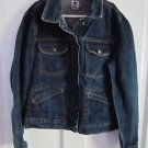 Girls The Gap Factory Store Snap Up Denim Blue Jean Jacket Multi Pockets Kids XL