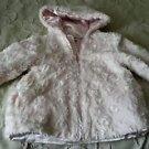 Bon Bebe Faux Fur Winter Dressy Hooded Hoodie Jacket Coat Parka Little Girls 3T