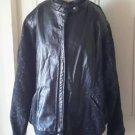 Vintage Ada Wool Tweed/Leather bomber style jacket coat womens Size 26 Steampunk
