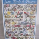 NEW State Birds & Flowers White Mountain Puzzle 1000 pieces USA 1998 Educational