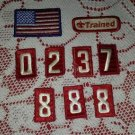 Lot 9 Vintage Trained Numbers Flag Boy Scout Patch Badge Maine ME BSA Insignia