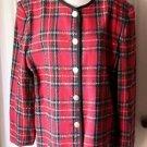 Leo Narducci Tartan Plaid Gold Medal Buttons Jacket Coat Blazer size 16-18 USA