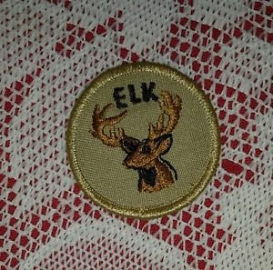 Vintage Elk Boy Scout Patch Badge Maine ME BSA Cub Insignia Merit