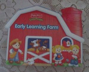 Fisher Price Little People Early Learning Farm 8 Mini Board Books Cardboard Barn