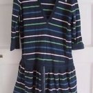 Girls Old Navy Hooded Striped Cinch Tunic Shirt Polo Dress 10 100% Cotton Tshirt