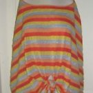 Fiets Voor 2 Anthropologie Striped Skye Circumstance Knit Cape Poncho Sweater SM