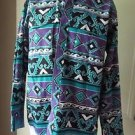 Vintage Wrangler Western Wear Southwestern Kachina Banded Collar LS Shirt L USA