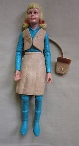 """vintage Johnny West Josie West movable Articulated Cowgirl Action Figure Marx 9"""""""