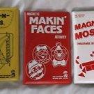 Vintage 80s Smethport Hip Hugger Magnetic Games Lot of 3 Steps N Slides Mosaics